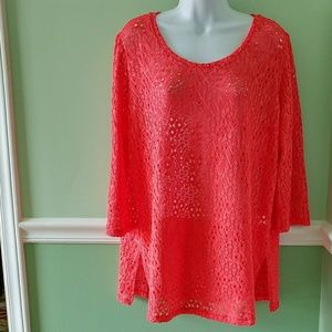 Coldwater Creek Crocheted Top